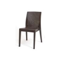 Jade Cadeira sem braços - cor castanha