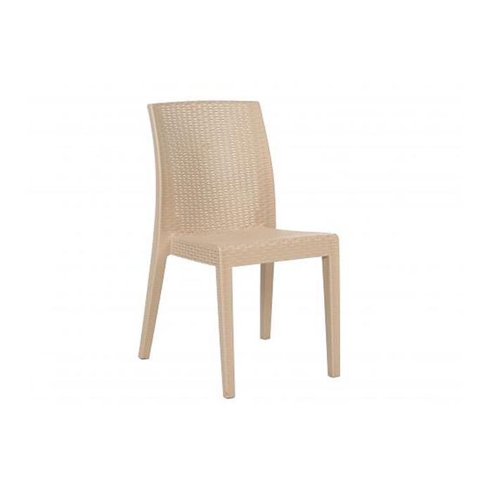 Jade cadeira sem braços - cor creme