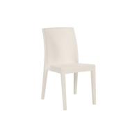 Jade cadeira sem braços - cor branca